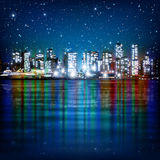 Abstract background with panorama of vancouver Stock Photos