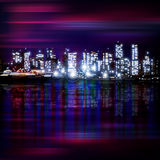 Abstract background with panorama of vancouver Royalty Free Stock Image