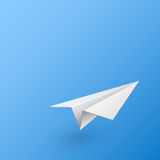 Abstract background with paper airplane. Vector illustration Royalty Free Stock Image