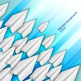 Abstract background with paper airplanes vector illustration