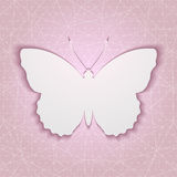 Abstract background with paper butterfly eps10 Stock Images