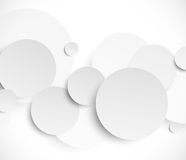 Abstract background with paper circles Stock Photo