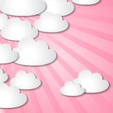 Abstract background of paper clouds Stock Photos