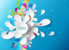 Abstract background with paper flower. vector illustration