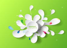 Abstract background with paper flower. Vector art vector illustration