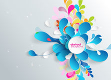 Abstract background with paper flower. Royalty Free Stock Image
