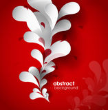 Abstract background with paper flower. Stock Photography