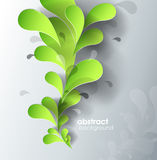 Abstract background with paper flower. Vector art stock illustration