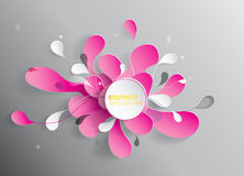 Abstract background with paper flower. Stock Image