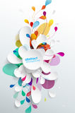 Abstract background with paper flower - vertical version. Vector art royalty free illustration