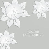 Abstract background with paper flowers. Abstract vector background with paper flowers stock illustration