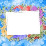 Abstract background with paper frame and bunch Stock Images