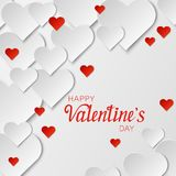 Abstract background of paper hearts. Valentine`s day concept Stock Image
