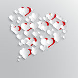 Abstract background with paper hearts. Stock Photo