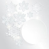 Abstract Background with Paper Snowflakes Royalty Free Stock Image
