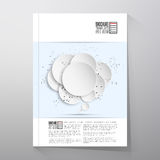 Abstract background of paper speech bubble with. The social network.  Brochure, flyer or booklet for business, template vector Royalty Free Stock Photo