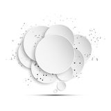 Abstract background of paper speech bubble with Royalty Free Stock Image