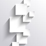 Abstract background with paper squares. And long shadows Royalty Free Stock Photo