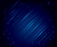 Abstract background with parallel lines - eps 10. Vector abstract dark blue background with parallel lines and stars - eps 10 Royalty Free Stock Photography