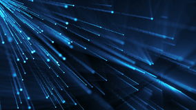 Abstract background with particles rain. 3D rendering royalty free illustration