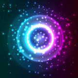 Abstract background with particles. Vector illustration Royalty Free Stock Image