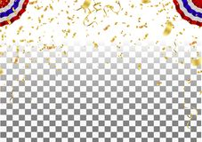 Abstract background party celebration confetti frame template wi royalty free illustration