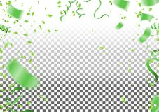 Abstract background party celebration green confetti. stock illustration