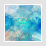 Abstract  background with pastel colored Triangular Polygo Royalty Free Stock Images