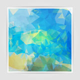 Abstract background with pastel colored Triangular Polygo Stock Photo