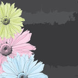 Abstract background with pastel flowers. Vector illustration Stock Image