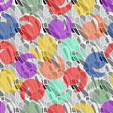 Abstract background with pastel splashes. On the gray patterns area Stock Photography