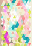 Abstract background with pastel triangles Stock Photos