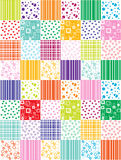 Abstract background with patchwork motives. Retro page layout colorful funny patchwork motives Royalty Free Stock Photos