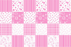 Abstract background with patchwork motives. Retro page layout with pink patchwork motives Royalty Free Stock Photography