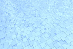 Abstract background pattern. With blue 3D cubes Royalty Free Stock Photo