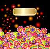Abstract background with a pattern royalty free illustration