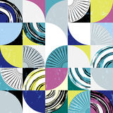 Abstract background pattern, with circles, squares, strokes and Royalty Free Stock Images