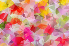 Abstract background pattern consisting of triangles. Raster copy. Multicolor, pink, yellow festive Royalty Free Stock Photography