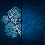 Abstract background with a pattern of flowers and Royalty Free Stock Photography
