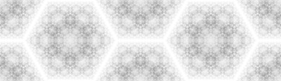 Abstract background with a pattern of hexagons. Ordered structure. Overlay multiple shapes on top of each other stock illustration