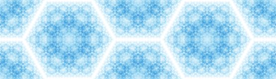 Abstract background with a pattern of hexagons. Ordered structure. Overlay multiple shapes on top of each other royalty free illustration