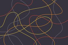 Abstract background pattern made with colorful, curvy lines stock images
