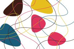Abstract, background pattern made with curvy, colorful lines stock image