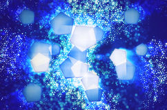 Abstract background pattern of pentagons. An stars Stock Photo