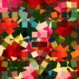 Colorful Pixel Abstract Surface Design. An abstract background pattern with pixel shapes Royalty Free Illustration