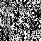 Abstract background pattern,. With squares, triangles, strokes and splashes, black and white Stock Photos