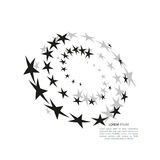 Abstract background pattern with stars. Vector illustration. Abstract background pattern with stars. Vector icon illustration Stock Image