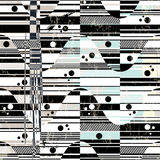 Abstract background pattern, with waves and stripes, black and w. Hite, grungy Stock Image