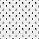 Abstract background. A pattern on a white background of black skulls. Wallpapers for your projects. Danger and threat. Vector illu. Stration. EPS 8 Stock Images