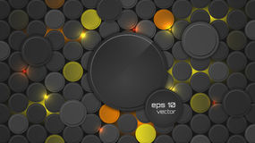 Abstract  background or pc desktop wallpaper with circle pattern and backlighting. Stock Photography